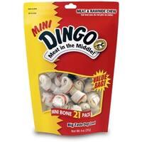 Dingo Brand Rawhide Mini Bones 21 ea