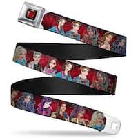 Descendants Apple Full Color Black Red Gold Descendants 11 Character Group Seatbelt Belt