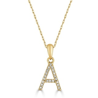 "Link to Diamond Initial Letter Necklace 14k Gold  16"" Chain 1/10 TDW by Joelle Collection Similar Items in Bracelets"