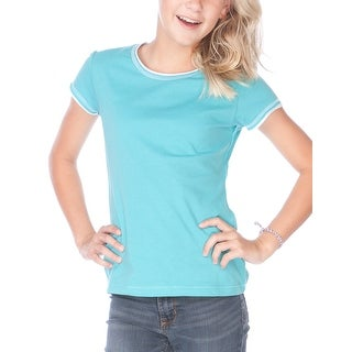 Kavio!Big Girls 7-16 Contrast Rolling Raw Edge Short Sleeve (More options available)