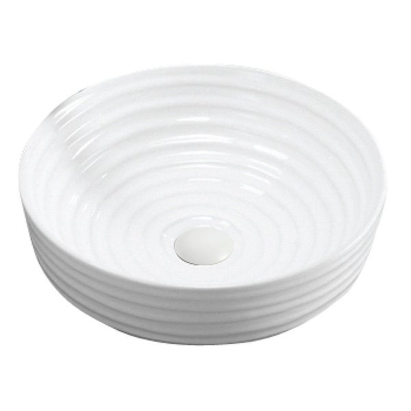 """Karran VC-425-WH Valera 16"""" Vitreous China Vessel Bathroom Sink in White. Opens flyout."""