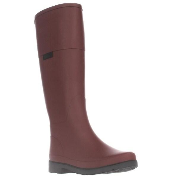 Marc Fisher Civil Knee High Rain Boots, Red Multi - 10 us