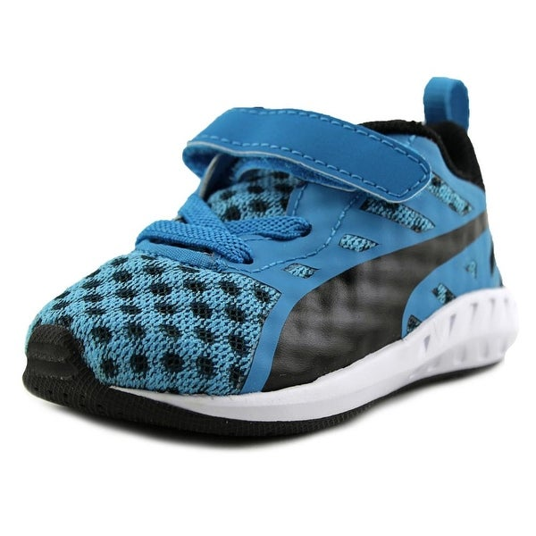 Puma Flare V Kids Infant Round Toe Canvas Blue Sneakers