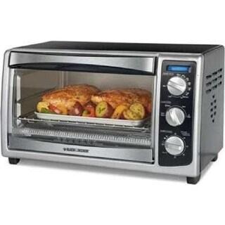 Spectrum Brands To1675b Black & Decker 6 Slice Countertop Convection Toaster Oven