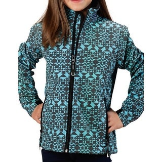 Roper Jacket Girls Zipper L/S Diamond Aztec Print 03-298-0780-0650 BU