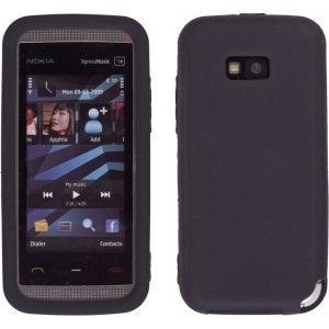 Black Silicone Gel Skin Case for Nokia 5530