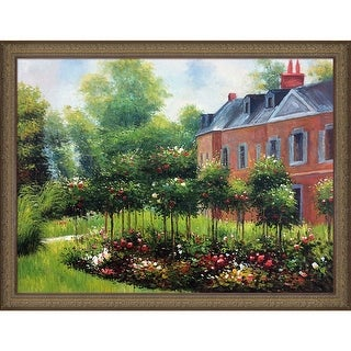 Pierre-Auguste Renoir 'The Rose Garden at Wargemont, 1879' Hand Painted Oil Reproduction