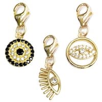 Julieta Jewelry Lucky Eyes 14k Gold Over Sterling Silver Clip-On Charm Set