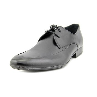 Calvin Klein Geoff Men Apron Toe Leather Black Oxford