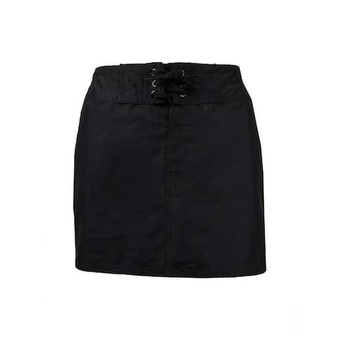 Island Escape Women's Mini Board Skirt Swim Cover - Black