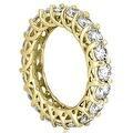 14K Yellow Gold 4.00 cttw. Round Diamond Eternity Ring HI,SI1-2 - Thumbnail 2
