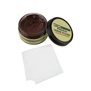 3 D Belt Company 1.6oz Creme Leather Polish with Shine Cloth Kit - One size