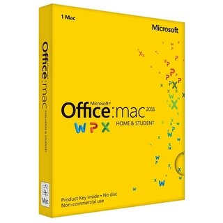 Microsoft Office for Mac Home and Student 2011 PKC for Mac