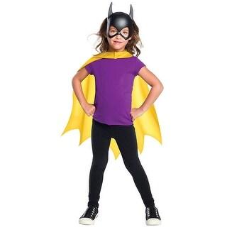 DC Comics Batgirl Cape & Mask Child Costume Set - Yellow