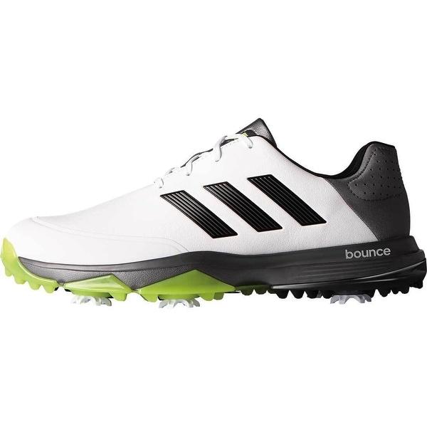 0d77cdb5bb886 Shop Adidas Men s Adipower Bounce White Black Solar Slime Golf Shoes ...