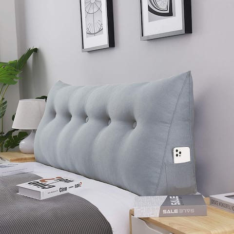 WOWMAX Bed Rest Bolster Wedge Back Reading Pillow Sitting Up Lumbar Support