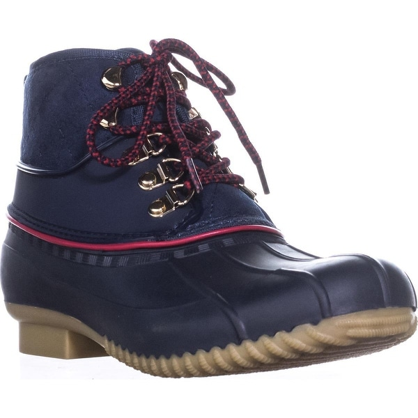 Tommy Hilfiger Rinah Lace Up Rain Boots, Dark Blue
