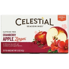 Celestial Seasonings Cranberry Apple Zinger Natural Herbal Tea 20 ea