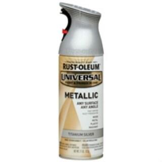 Rust-Oleum 245220 Universal Metallic Spray Paint, 12 Oz, Titanium Silver
