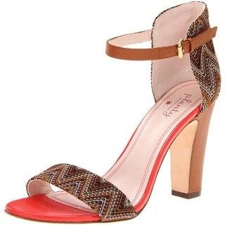 Plenty by Tracy Reese Womens Destiny Dress Sandals Contrast Trim Ankle Strap