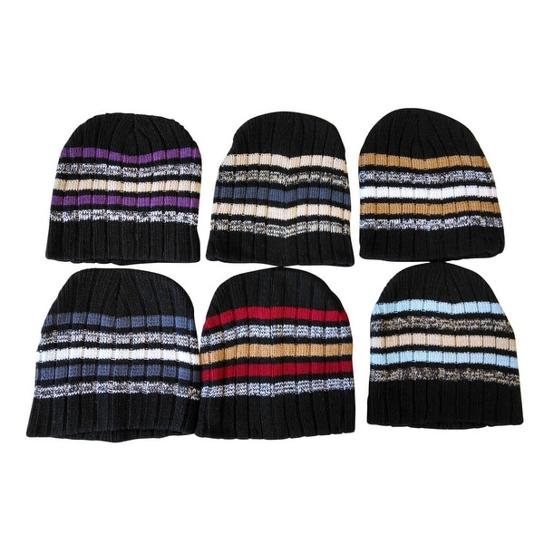Shop 6 Pieces Of excell Mens Womens Warm Winter Hats In Assorted ... 6e2eb079037e