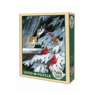 Bird Watchers Jigsaw Puzzle - Cardinals and Cats 1000 Piece - Cobble Hill - multi-color