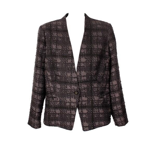 0fa037b8e62f3 Shop Rachel Roy Plus Size Black Curvy Houndstooth Blazer W - 16W ...