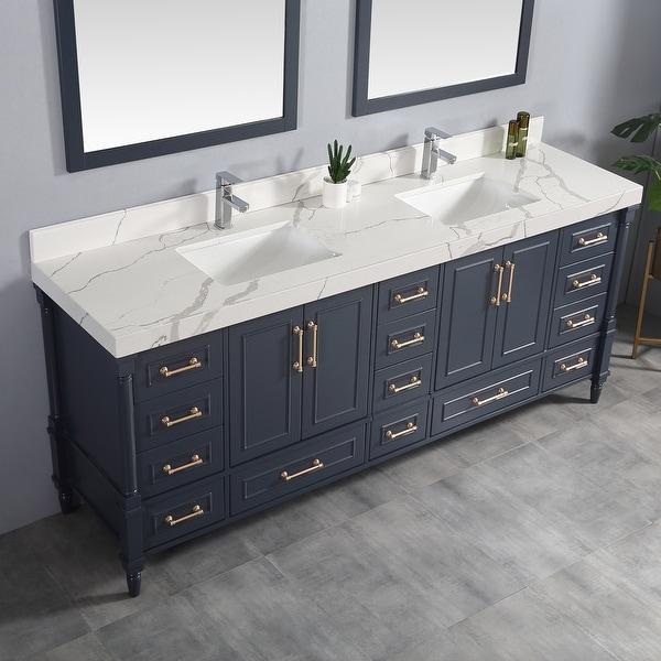 Aberdeen Double Bowl Sink Bathroom Vanity. Opens flyout.