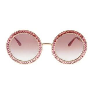 Dolce & Gabbana DG2170B 129880 Pink Gold Round Sunglasses - 51-26-140
