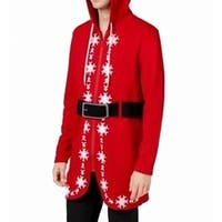 American Rag Red Mens Size Small S Santa Suit Hooded Sweater