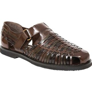 Deer Stags Men's Bamboo2 Closed Toe Sandal Brown/Multi Buffalo Leather
