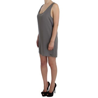 Costume National Costume National Gray Stretch Shift Lingerie Dress - it42-m