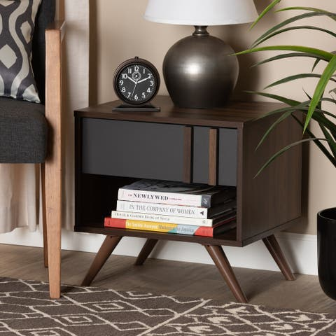 Naoki Modern and Contemporary 1-Drawer Nightstand