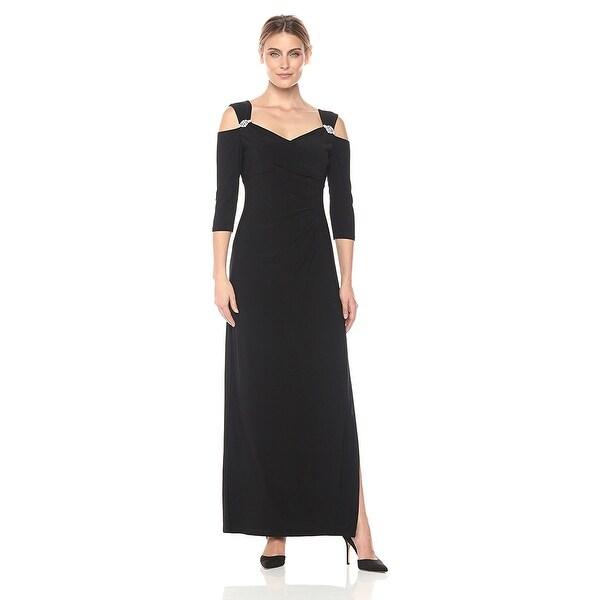 Shop Rm Richards Cold Shoulder Embellished Evening Gown Dress 14