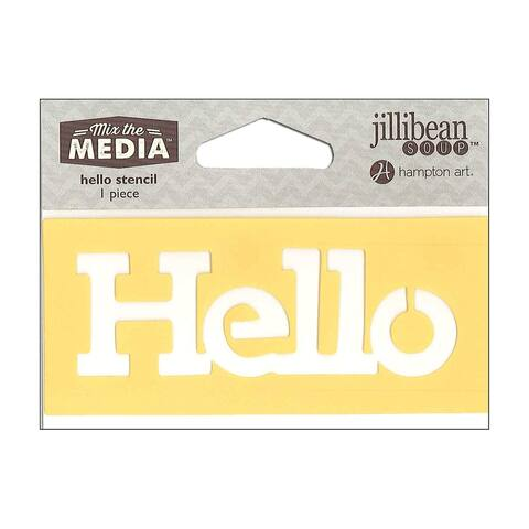 Jb0443 hampton art mix the media stencil 4 hello