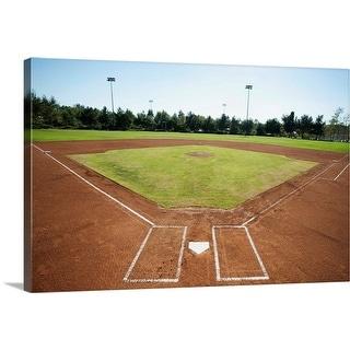 """Baseball diamond"" Canvas Wall Art"