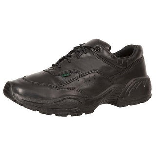 Rocky Work Shoes Mens 911 Athletic Oxford Leather Slip Black