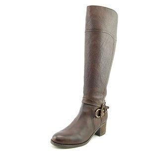 Marc Fisher Kierra Women Round Toe Leather Brown Knee High Boot
