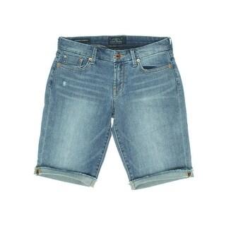 Lucky Brand Womens Boardwalk Bermuda Distressed Cutoff Walking Shorts - 10