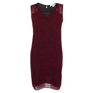 BCBGeneration Women's Floral Print Sleeveless Dress - wine red combo - m