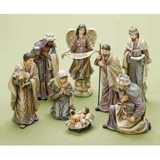 8-Piece Decorative Traditional Religious Christmas Nativity Figure Set