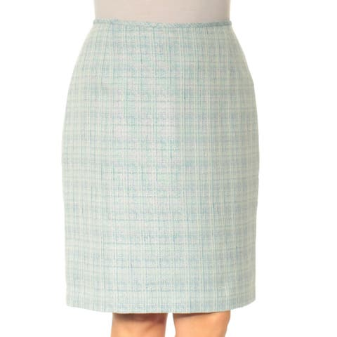 LE SUIT Womens Blue Knee Length Pencil Wear to Work Skirt Size 14