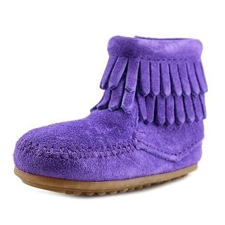 Minnetonka Double Fringe Moc Toe Suede Ankle Boot