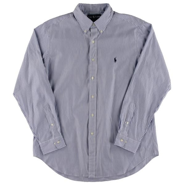 Polo Ralph Lauren Mens Button-Down Shirt Striped Signature