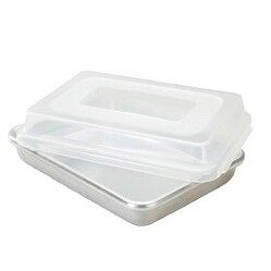 Nordic Ware 46603 Rectangular Cake Pan with Storage Lid