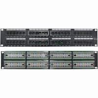 4XEM 4XRMC5EPP48 4XEM 48 Port CAT5E Rackmount Patch Panel - Black - 48 x RJ-45 Port(s)