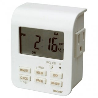 Woods 50009 Indoor 7-Day Heavy Duty Digital Timer, 2-Outlets