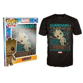 Funko Pop Black GOTG Groot Line Up T-Shirt