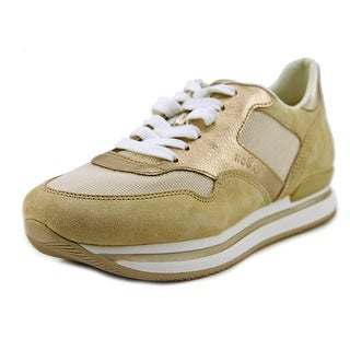 Hogan H222 All Tessuto Round Toe Suede Tennis Shoe
