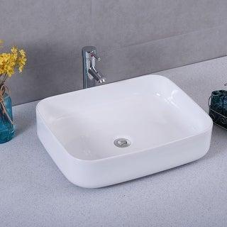 Costway Bathroom Ceramic Vessel Sink Porcelain Bowl Vanity Basin